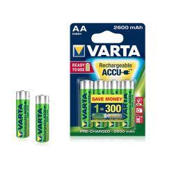 Batterie ricaricabili AA Varta 2600mah