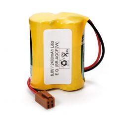 Pilas de litio 6V CR17450 con conector