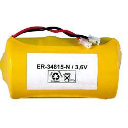 Batterie Lithium ER34615 kabel und stecker