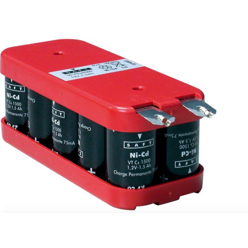 Batería Saft 12V 1600mah Ni-Cd