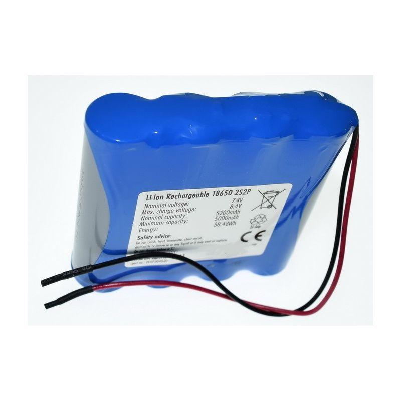 Ver más grande Pack Baterías Litio 18650 7.4V 5200mAh