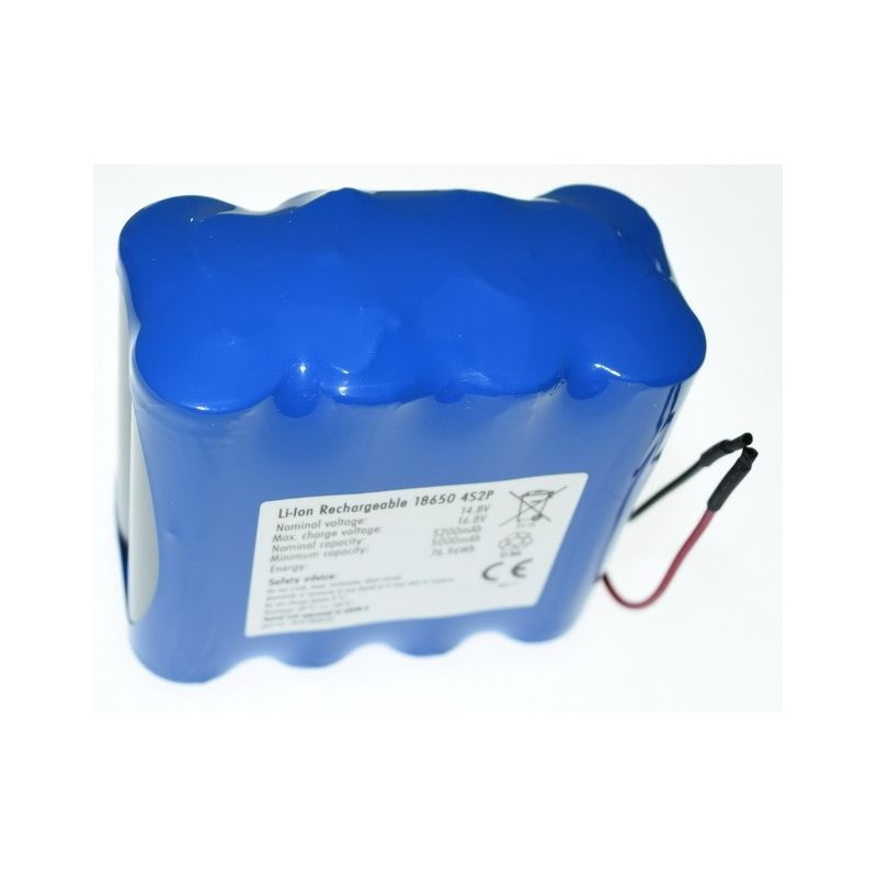 Pacco Batterie al Litio 18650 14.8 V 5200mAh