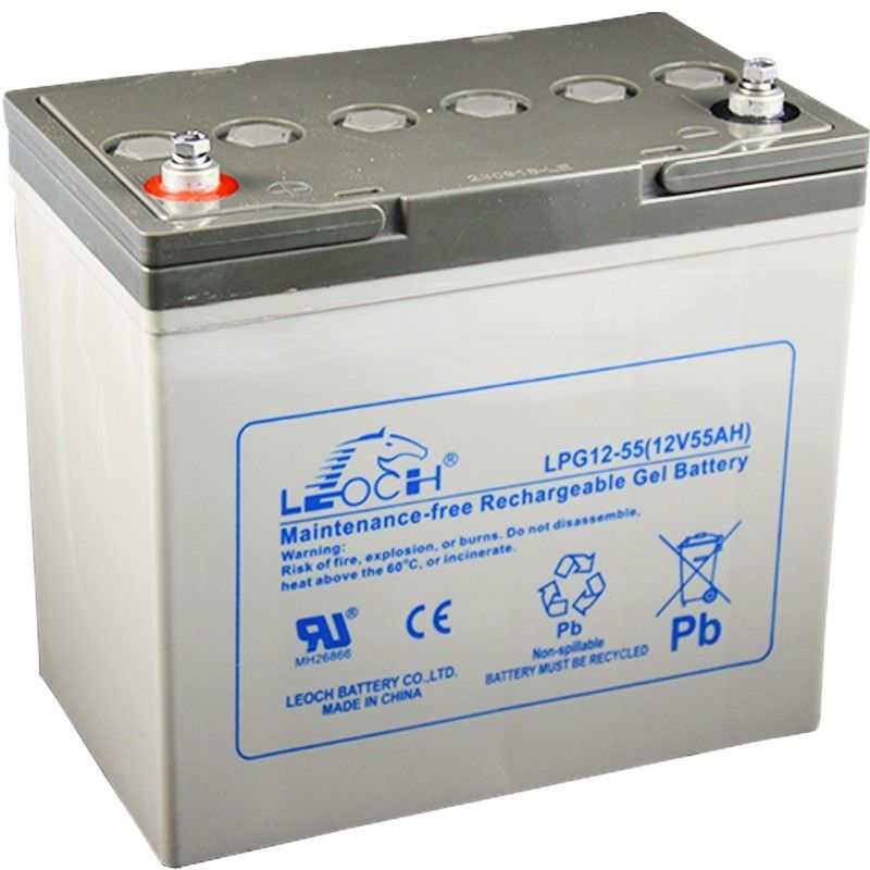 Batteria al Gel Leoch 12V 55Ah