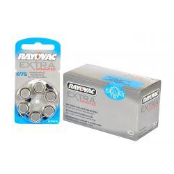 Pilas audifono Rayovac 675 (Pack 60 pilas)
