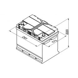Batteria Varta E24 70Ah