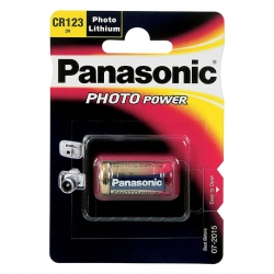 Pilas Litio Panasonic CR123A