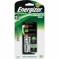 Cargador pilas recargables Energizer mini con 2 Pilas AA