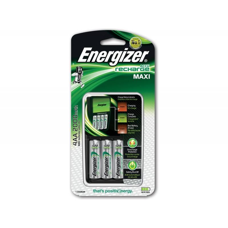 Cargador pilas recargables Energizer Maxi
