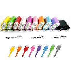 Cargador moviles varios colores.