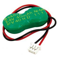 Batería recargable 2.4V 40mAh Ni-Mh