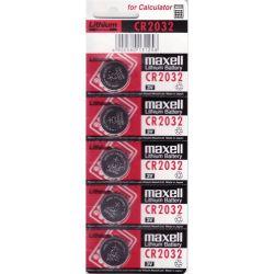 Pack 5 Batterie a Bottone-Pulsante di Litio MAXELL CR2032