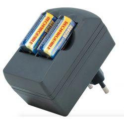 Caricabatterie + Batterie ricaricabili CR123A