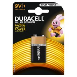 Pilas Duracell Plus Power 9V
