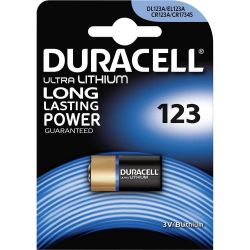 Pila Litio Duracell CR123A DL123