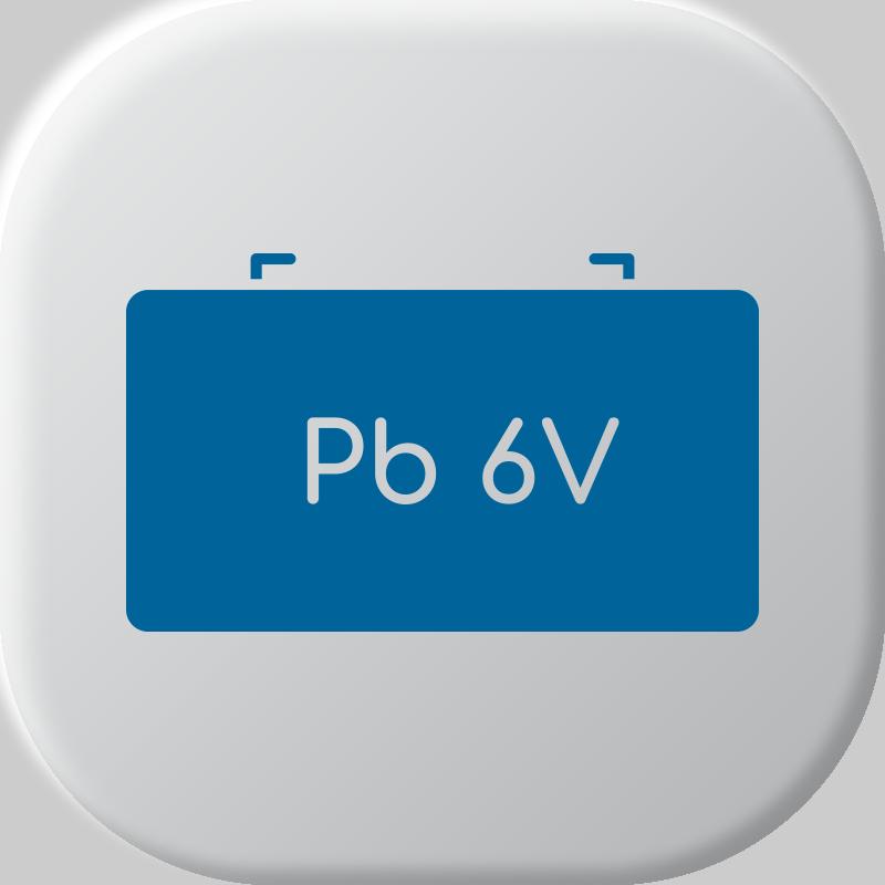 6V Batterie al piombo